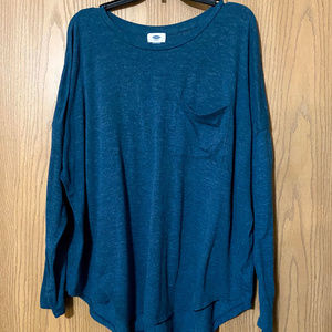 Old Navy Long Sleeved Tunic XXL w/pocket Teal
